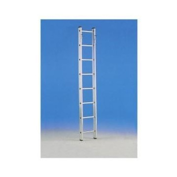 Internal aluminum ladder for access to the floors