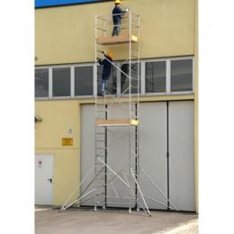 Trabattello alluminio Roller L modulo A+B+C Altezza L. 5.90 mt.