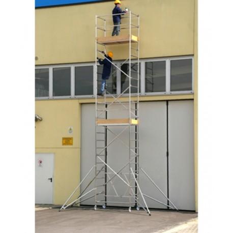 Aluminum scaffold Roller L module A + B + C + D Height L. 7.70 mt.