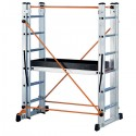Échafaud multifonctionnel en aluminium Target H. 4,15 mt. Travail