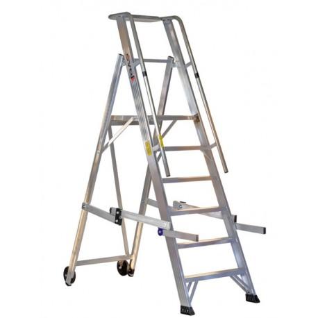Escalier en aluminium avec garde-corps Vera