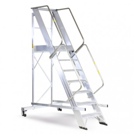 Aluminum staircase with parapet Castellana Maxi
