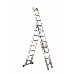 LUXE 3 ladder in 3 trunks convertible into a support ladder