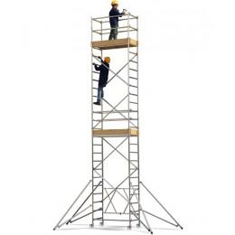 Aluminum Roller scaffolding, module A + B + C Height l. 6 m
