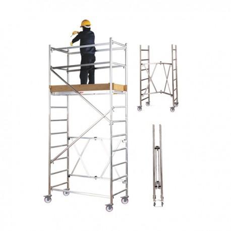 Echafaudage Roller en aluminium Module A + B + C + D Hauteur l. 8,10 m