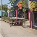 Trabattello alluminio Roller S modulo A Altezza L. 2.96 mt.