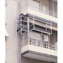 Trabattello a balcone in alluminio da 2 mt.