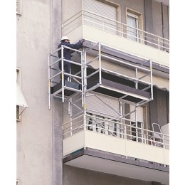 Aluminum balcony scaffold from 3,00 mt.