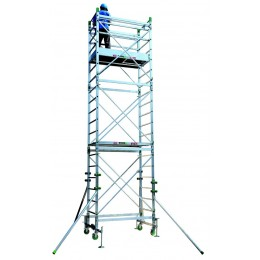 Aluminum scaffold DOGE 65 H. from 4.30 to 10.30 Mt
