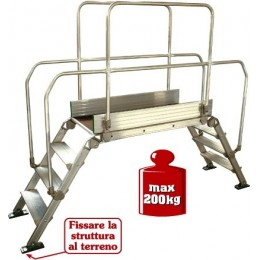 "Aluminum bridge ladder ""DIVA"" 90x53"