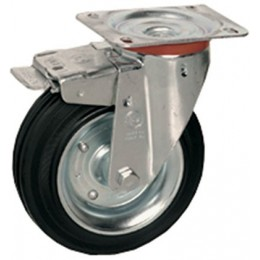 Swivel wheel with 125 mm brake.