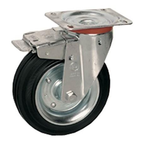 Roue pivotante avec frein 125 mm.