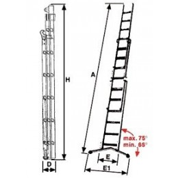 Super ladder Prima with rope