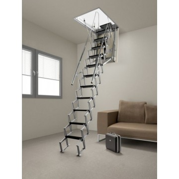 Retractable ladder motorized ACI ALUMINUM