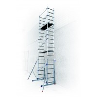 Aluminum scaffold Pinna Clic-clac  H. 6.45 Work