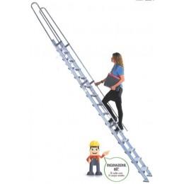 Aluminum mezzanine staircase S15 / 2