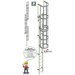 Cage ladder (Marinara) In aluminum