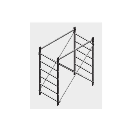 Work height 180 cm for alumito scaffolding Facal