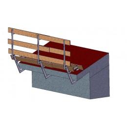 Parapetto per piani orizzontali verticali e inclinati 0/40 MH90
