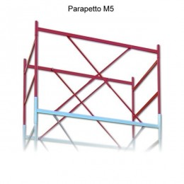 Terminal railing for M5 scaffolding