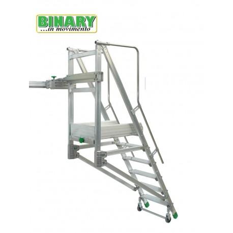 Bunk ladder sliding on a track