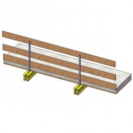 Fall protection parapet for beams and flat slabs MH29ttto Anticaduta per travi e solette piane MH29