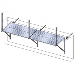 Fall protection parapet with worktop MH60