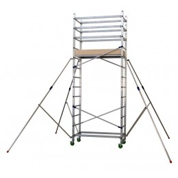 "Aluminum scaffold ""ALTO 410"" H. work 5 mt. (mod. 1 + 2)"