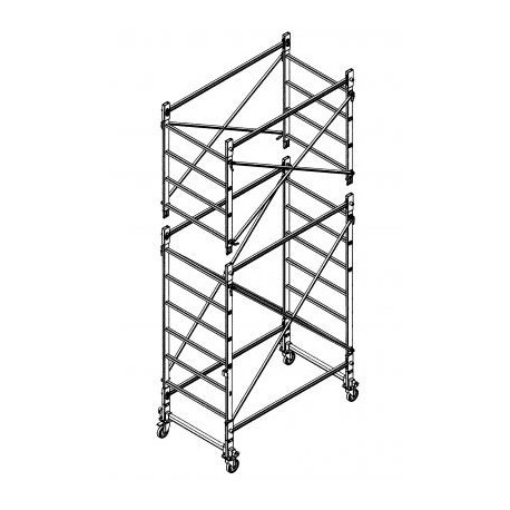 Trabattello in alluminio DOGE 65 H.4.30 mt lavoro
