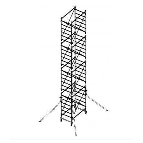 Échafaud en aluminium DOGE 65 H.8.50 m de travail