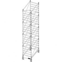 Trabattello in alluminio DOGE 80 ( Composizione standard )