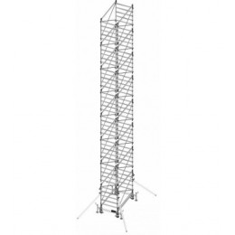 Aluminum scaffold DOGE 80 H. 13.40 m Working