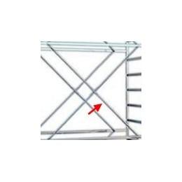 Diagonal span scaffolding