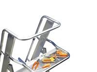Scala in alluminio con parapetto castellana